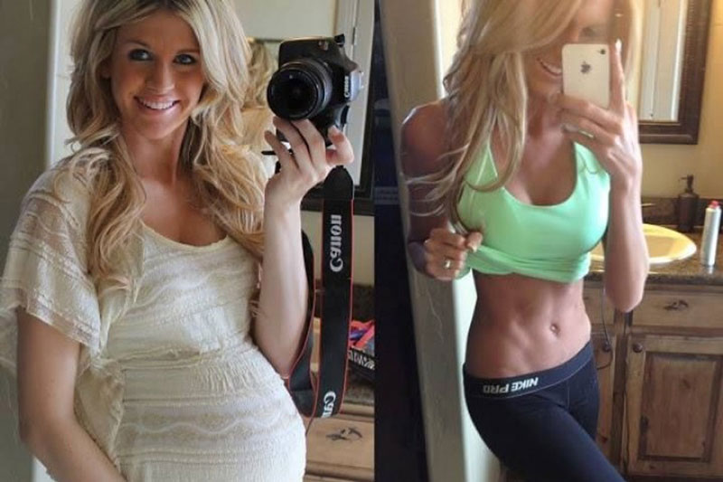 Похудение и красивый пресс после беременности