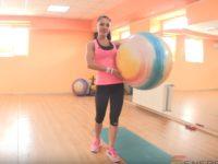 Упражнения с фитболом для похудения живота