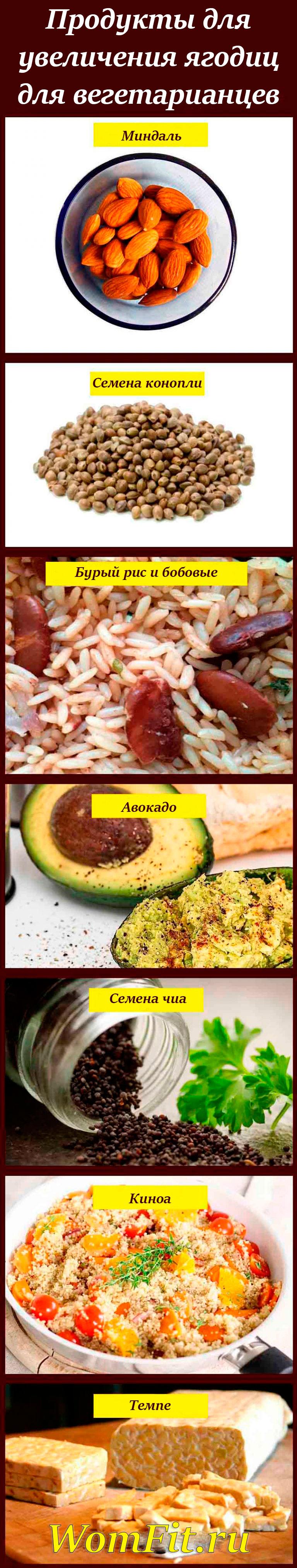 Продукты для увеличения попы для вегетарианцев