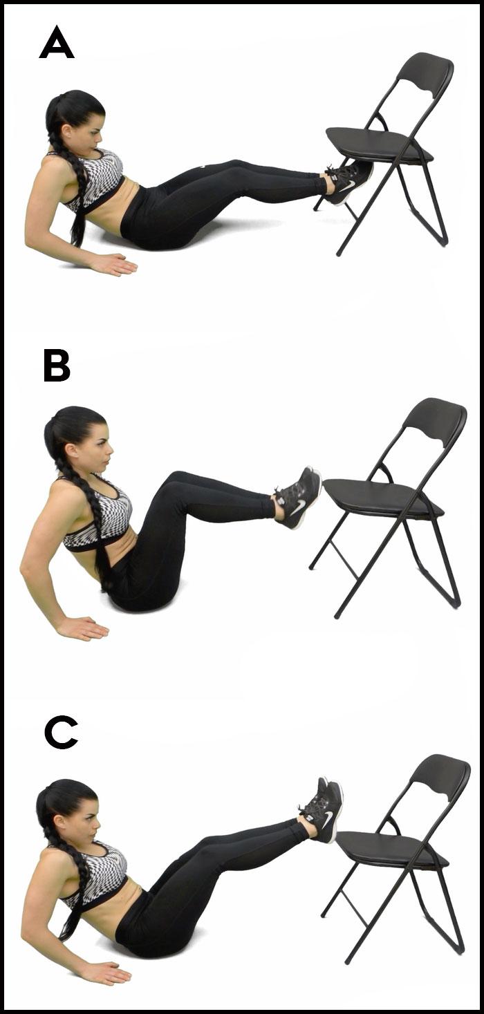 Упражнение складка со стулом